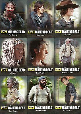Walking Dead Season 4 Part 1 ~CHARACTERS/POSTERS/TERMINUS Insert Sets (22  cards)   eBay