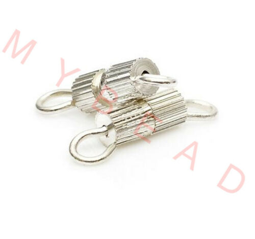 20pcs Gold /& Silver Plated Jewelry Diy Screw Clasps buckle Necklace Connectors