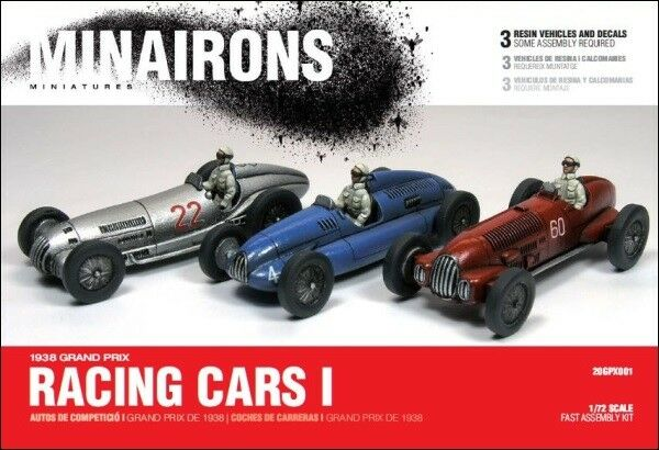 Minairons 1 72 Vintage Racing Cars (3 models) - 1938 Grand Prix