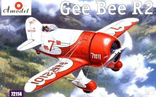 Amodel 72114-1//72 Gee Bee Super Sportster R2 scale plastic model kit