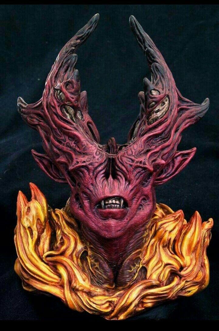 Demon devil resin model bust