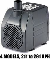Ponicspump Pp29105: 291 Gph Submersible Pump With 5' Cord - 16w... For Hydroponi