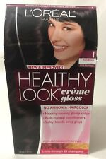 L'Oreal Healthy Look Creme Gloss Hair Color Rich Black/Double Espresso #1 NEW.