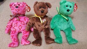 Ty Beanie Babies - Lot of 3 - Dublin William Heartley
