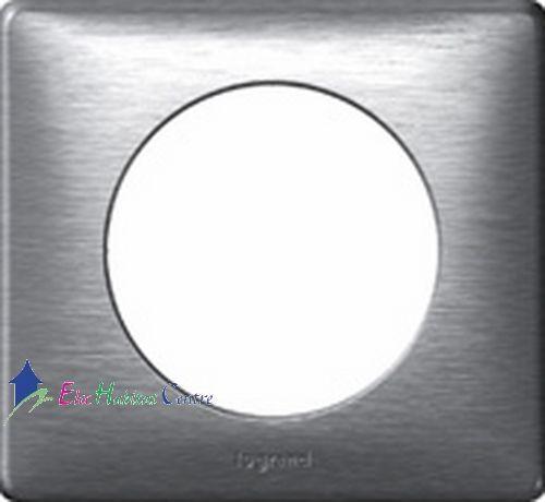 Lot de 10 plaques simple anodisé Céliane aluminium Legrand 68921