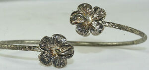 VINTAGE-JAMAICAN-WI-STERLING-SILVER-ORCHID-FLOWER-CUFF-BRACELET-A
