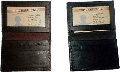 100% Vero Nuovo Pelle Business Card Custodia Carta Di Credito Id Atm Scheda Biz Materiali Superiori