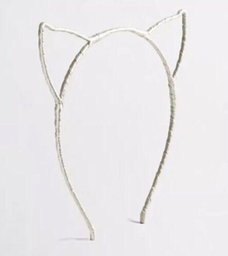 J Crew Factory Girls Cat Ears Headband Silver