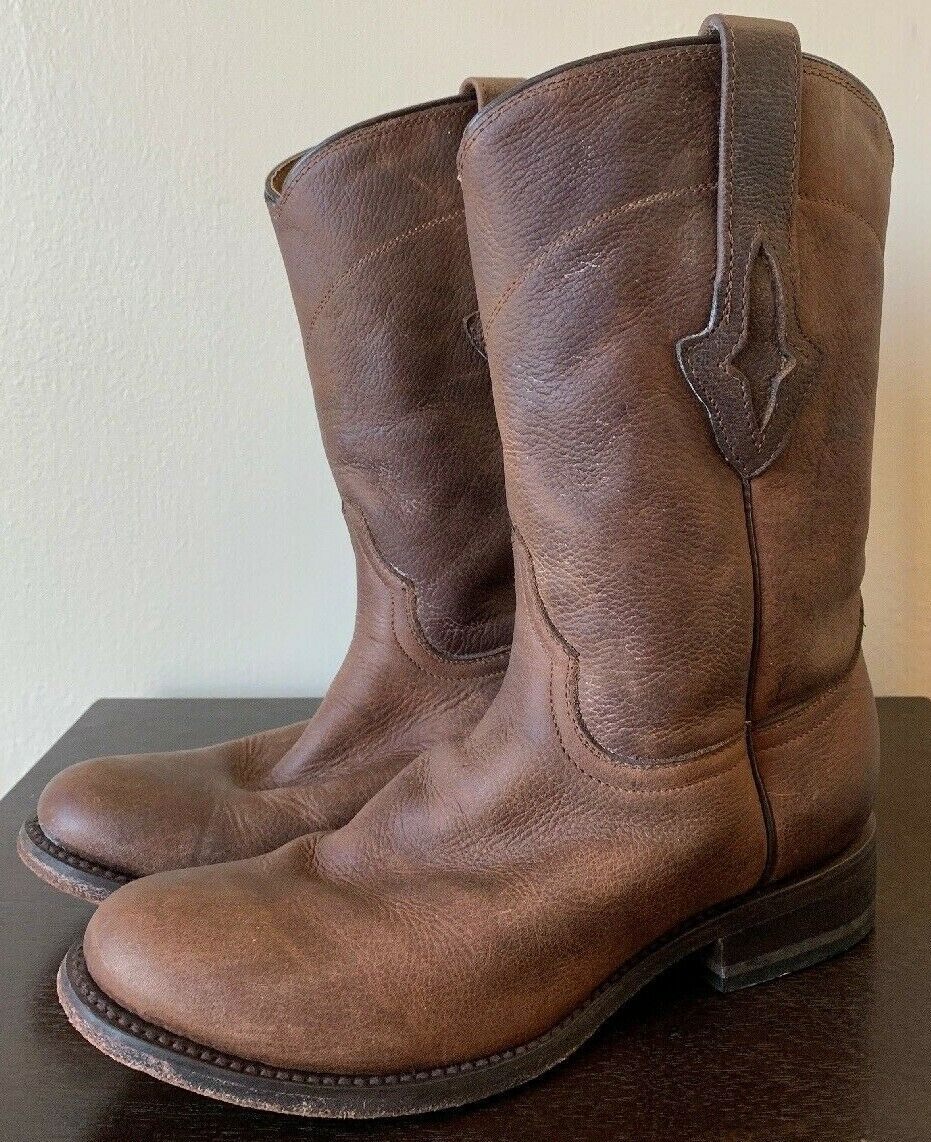 Resistol Men's Pull On Leather Boot Size 7.5 Style M 0504
