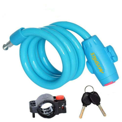 Steel Wire Cable Lock Bike Bicycle Security Cable Lock with 2 Keys 1.2 Meter