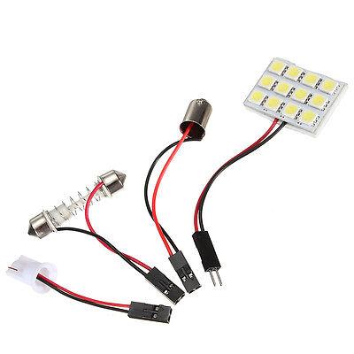 12 SMD 5050 Car Pure White Light T10 BA9S Festoon Dome 12 LED Interior Bulb