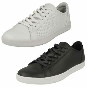 19bfe92b1ce7 Mens Skechers Highland-T 52349 Black Or White Leather Synthetic ...