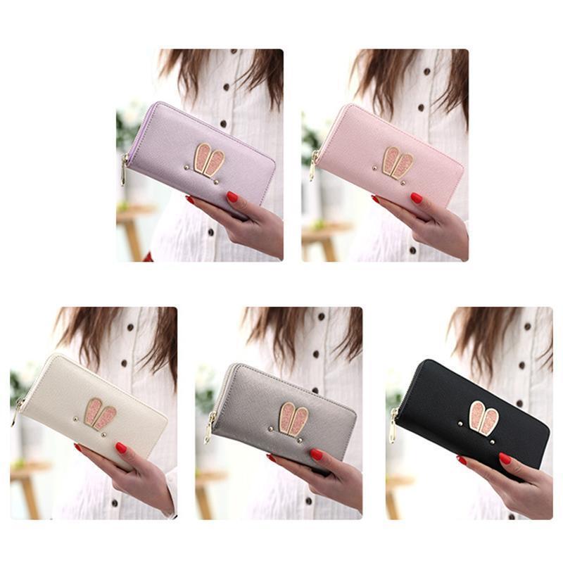 (EU) COOFI Long Style Rabbit Ears Wallet Korean Fashion Cute Purse PU Leather