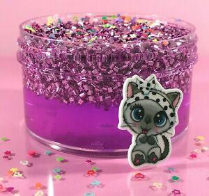 SCENTED-Clear-SLIME-034-MEOWGICAL-034-BINGSU-Beads-Crunchy-Purple-Glitter-Charm-6-8-oz
