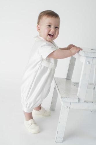Baby Boys Christening Outfit Christening Suit Christening Romper Diamond Cream