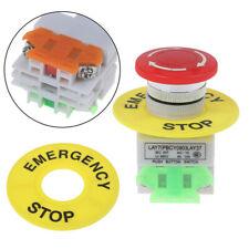 Mushroom Cap 1no 1nc Dpst Emergency Stop Push Button Switch Ac 660v 10a Swi H Sh