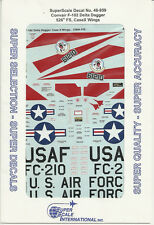 1/48 SuperScale Decals USAF F-102A Delta Dagger 526th FS Case X Wings 48-959