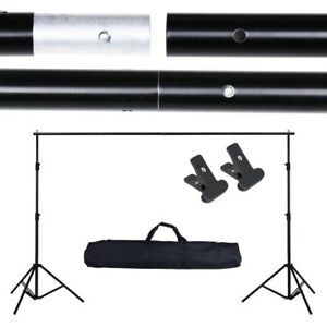 10Ft Adjustable Backdrop Support Stand Photo Photography Background Crossbar Set 640671025362