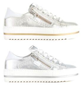NERO-GIARDINI-TEEN-P931030F-scarpe-donna-sneaker-pelle-vernice-zeppa-argento-oro