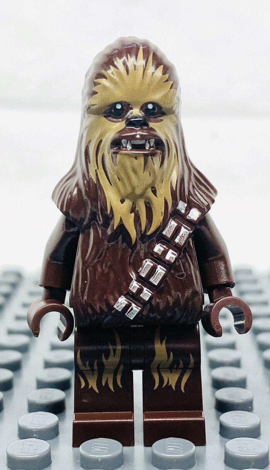 Chewbacca w// dark brown fur /& dark tan face new LEGO System Star Wars Minifig