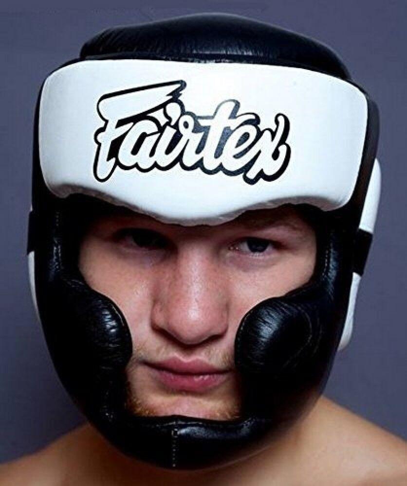 New Fairtex hg 13 Head Guard - Lace Up Head Boxing, Muay Thai White Japan