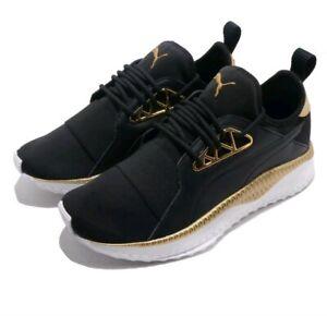 Details about Women's Size 6 PUMA Tsugi Apex Jewel Black Gold Fashion Sneakers 36675601