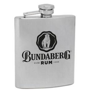 120543-BUNDABERG-RUM-BUNDY-BEAR-6oz-STAINLESS-STEEL-HIP-FLASK-ALCOHOL-DRINKING