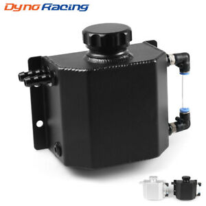 BK Dyno Racing Universal 2L Alloy Engine Oil Fuel Gas Catch Can Breather Tank Bottle Coolant Radiator Overflow Tank