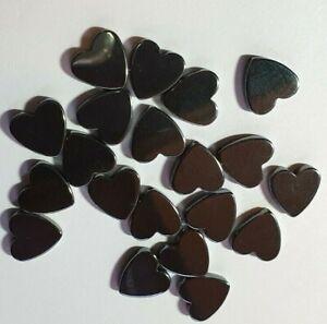 Hematite-Semi-Precious-Gemstone-10mm-Heart-Jewellery-Making-Beads-x-19-to-clear