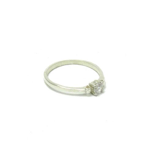 Sterling Silver Ring Genuine Solid 925 Avec 10 mm Zircone Cubique Handmade EMPRESS