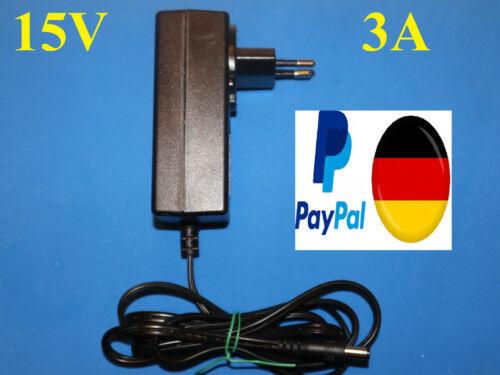 Original TEUFEL Schaltnetzteil 15V 3A 2,1mm stecker Netzgerät NEU Aux