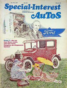 Vintage Special Interest Autos Magazine Jan/Feb 1977 The Model T m1357