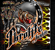 """HPI BAJA 5B SS WRAP GRAPHIC DECALS /""""HELL RIDE/"""" FITS OEM BODY PARTS 1//5 STICKERS"""