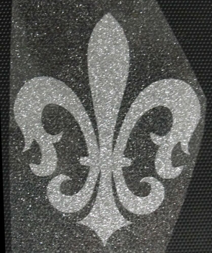FLEUR DE LIS IRON ON transfer patch glitter foil silver 2.5 inches long awesome