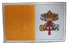 Vatican-City-Catholic-Church-Flag-Embroidered-Hook-Loop-Patch