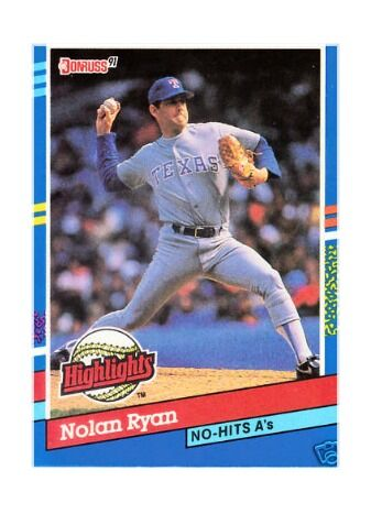 1991 Donruss Nolan Ryan Texas Rangers Bc3 Baseball Card For Sale Online Ebay
