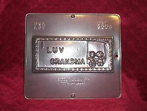 NEW-I-LOVE-GRANDMA-Greeting-Card-Chocolate-Candy-Fondant-Plaster-Clay-Mold