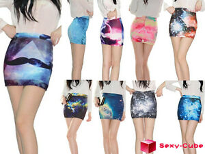 2013-New-Women-039-s-A-line-Skirt-Digital-Printing-High-Waist-Universe-Galaxy-Dress