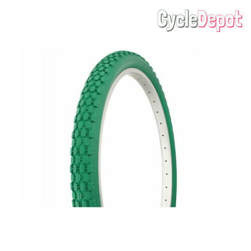 DURO 26 x 2.125 HEAVY DUTY VINTAGE CRUlSER BIKE BlCYCLE TlRE IN Green 270622