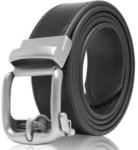 Bonded Leather Mens Ratchet Belt Belts For Men With Adjustable Automatic Buckle