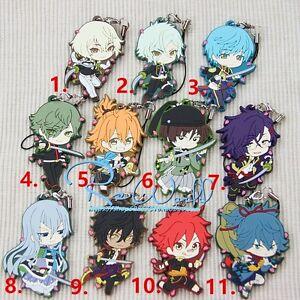 Touken Ranbu The Sword Dance Online Anime Rubber Strap Charm Keychain Keyring