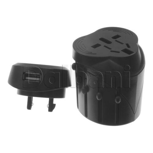 EU AU UK US To Universal World Travel AC Power Plug Convertor Adapter with USB