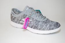 SKECHERS Women's Go Step Gray White Fashion Sneakers SZ 8.5 NEW