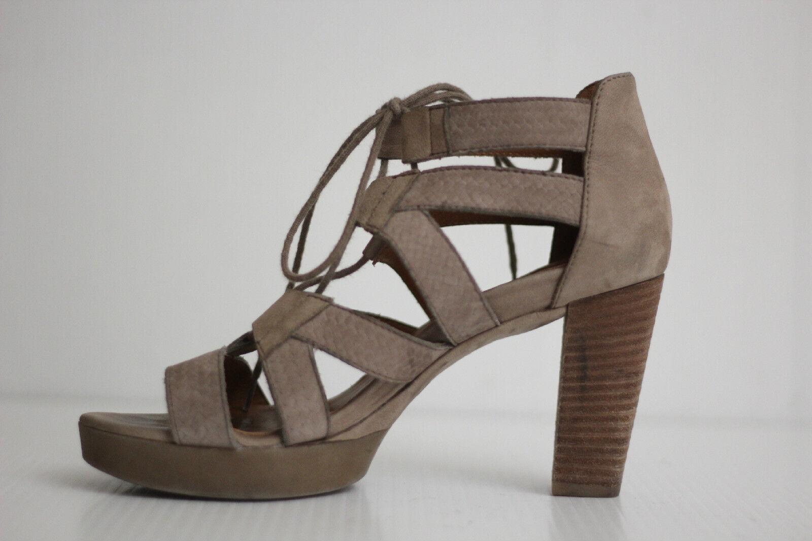 339 Paul Green Hana Lace-Up Sandal - Earth Grey Size - Size Grey 6.5 US / 4 UK (X92) daefe6