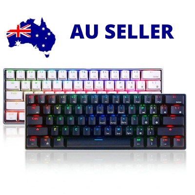 Details about  Royal Kludge RK61 Mechanical Keyboard 61 Keys bluetooth 5.0 Wired Dual Mode RGB