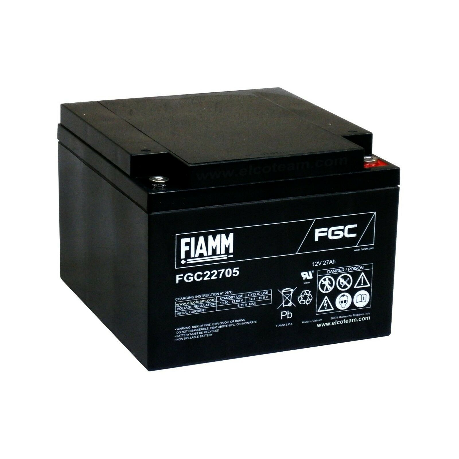 Fiamm Fgc22705 Batterie Zyklische Al Blei 12v 27ah X Fahrrad