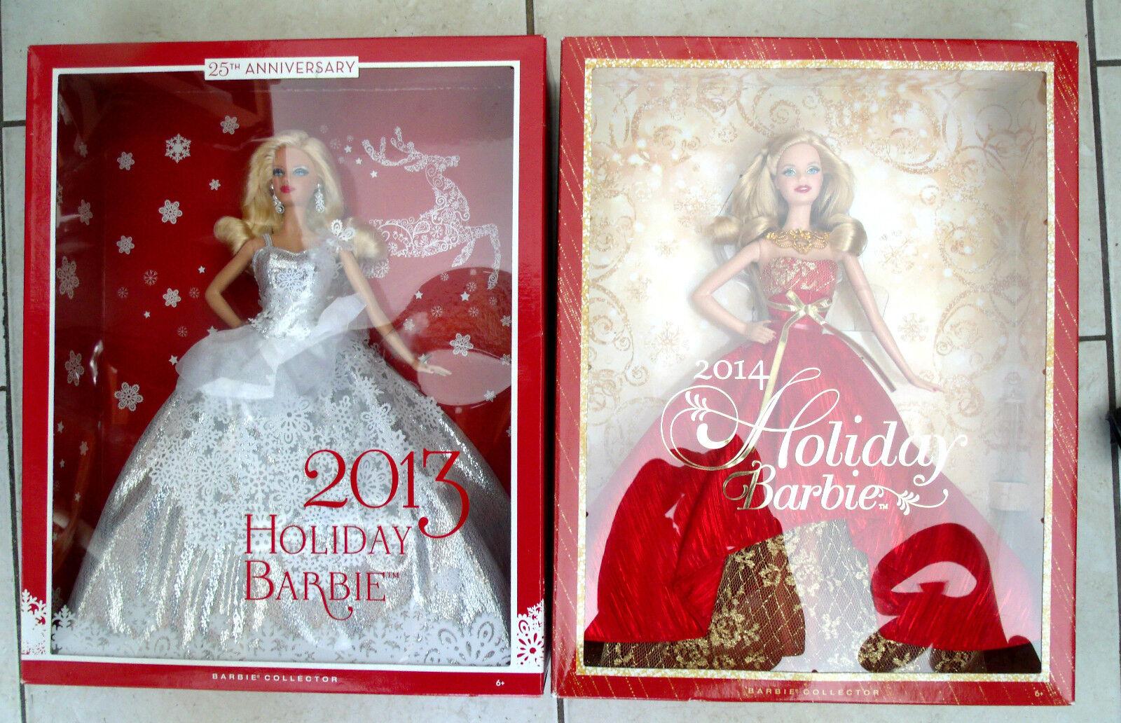 Lote de 2 2013 Vacaciones Barbie y 2014 vacaciones Barbie