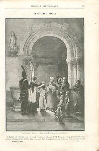 Bapteme-a-Reville-par-Guillaume-Fouace-Peintre-Sculpteur-GRAVURE-OLD-PRINT-1894