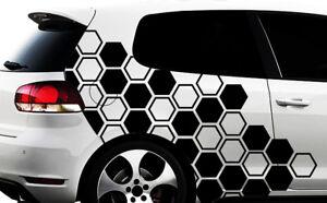 Hexagon Pixel Cyber Camouflage Xxl Set Auto Aufkleber Sticker Tuning