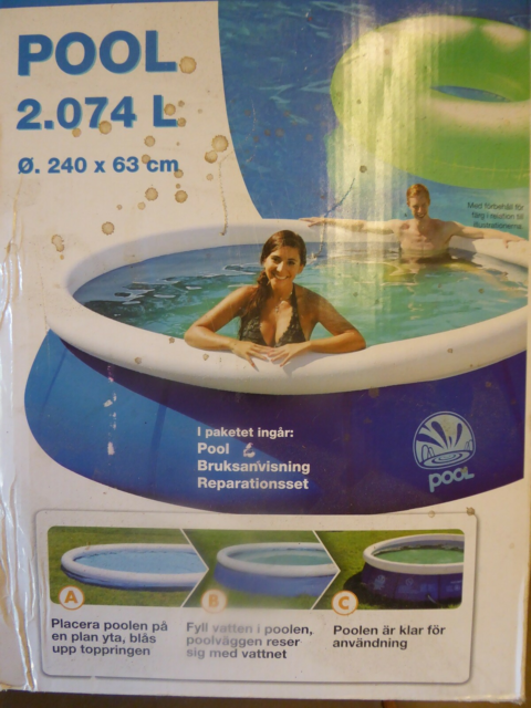Badebassin, Pool, Waterhouse Pool , 2074 liter, ø = 240 x…